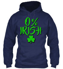 St. Patricks Day With 0% Irish Gildan Hoodie Sweatshirt