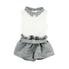 Kids Baby Girls Summer Clothes Vest T-shirt+Pants Suits Outfits Set  1-6Y 2Pcs