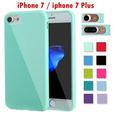 Soft Silicone Rubber Shockproof Jelly Color Case Cover For Apple iPhone 7 &7Plus