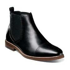 Stacy Adams Alomar cap toe chelsea boot Mens shoes Black Leather 25129-001 New