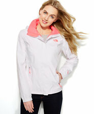 NWT The North Face Resolve Rain Coat Zip Front Cinch Waist Jacket White XS, L