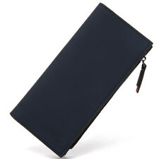 High Capacity Men Leather Long Wallet With 26 ID/Credit Card Slots Zipper Purse