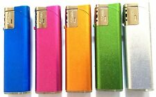 3 x WINDPROOF SHINY METALLIC TURBO JET FLAME LIGHTER Gas Refillable LIGHTERS