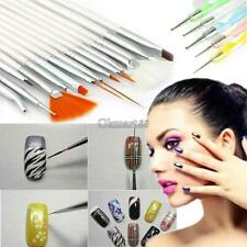 100% Kolinsky Sable Brushes Acrylic Nail Brush Professional Nail Art Tool 20pcs