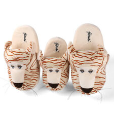 Adult Kid's Tiger Animal Plush Stuffed Slippers Winter Warm House Indoor Shoes