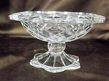 Vintage Gorham Lead Cut Crystal Footed Centerpiece Compote Bowl Candy Dish 7""