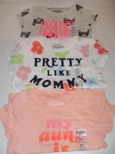 New Girls OshKosh B'gosh Assorted Short Sleeve Shirts - Sizes 2T-5T - NWT $14