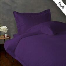 1000 Thread Count 100%Egyptian Cotton Purple Solid Fitted/Duvet Set/Sheet Set