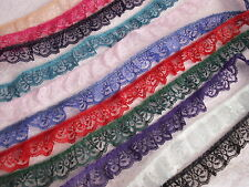 Ruffled Lace Trim, Assorted Colors, 1 1/4 Inch Wide, 5 YARDS, Candlewick Lace