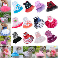 Small Pet Dog Cat Bow Tutu Dress Lace Skirt Puppy Doggy Summer Princess Clothes