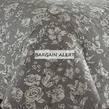 WEDGEWOOD VIBRANCE VINTAGE GRAY FLORAL ROSES 3-7PC KING OR QUEEN DUVET COVER