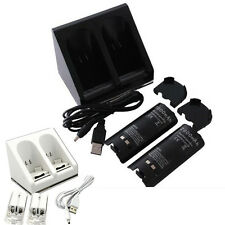 2/4x 2800mAh Battery + Charger Dock Stand For Wii Remote Controller
