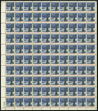 US #1240a 5¢ Christmas 1963 Tagged Sheet of 100 VF NH MNH