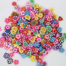 1000 Pcs 3D Fruit Flower Polymer Clay Slices DIY Nail Art Decor Sticker Fashion