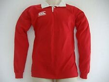 Youth Canterbury long sleeved jersey RED Rugby top Age 8 10 12 14