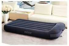 Intex Queen Raised Pillow Rest Camping Travel inflatable AirBed Air Mattress