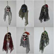 Halloween Scary Skull Hanging Ornaments Ghost Skeleton Prop Wall Decorations