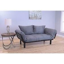 Somette Eli Spacely Daybed Lounger with Suede Grey Mattress New
