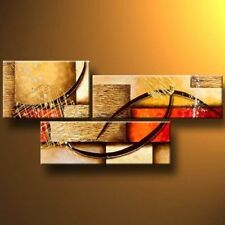 3 Pics Modern Abstract 100% Hand Painted Oil Paintings Artwork On Canvas Wall