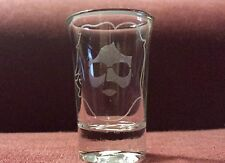 Jerry Garcia Band Face 1.5 oz. Sandblasted Etched Shot Glass