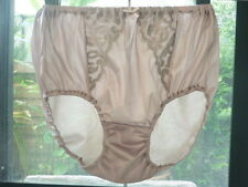 Vintage Nylon Lingerie Granny Bloomers Panties Sheer Lace Full Briefs L XL 2XL