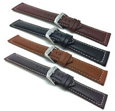 18-30mm Extra Long XL Leather Watch Band Strap, Many Colors, Fits Citizen & More