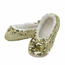 snoozies! Womens Spring Brights Bling Ballerina Sequin Slippers
