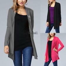Women Long Sleeve Sweater Top Casual Irregular Knitted Cardigan Outwear Coats