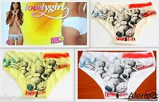 Womens Briefs Lovelygirl stretch Measures 3/M-4/L White Made in Italy 8325