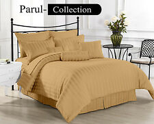 Sale Sale 600-800-1000-1200 TC Taupe Stripe 100% Egyptian Cotton US Bedding size