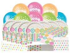 PASTEL DOTS - Baby Shower PARTY PACK Girl Boy Unisex Plates Cups Napkins Banner