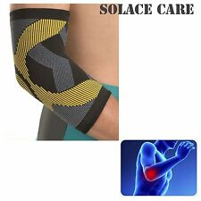 Solace Care Elastic Compression Elbow Support Injury Tennis Sleeve Brace Golfer