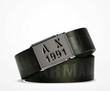 Armani Exchange A|X Men's 1991 Logo Plate Buckle Leather Belt - 9510267P205