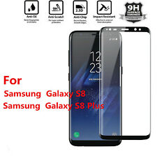 Samsung Galaxy S8 Edge Full Curved 3D Tempered Glass Film Screen Protector-BLACK