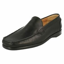Grenson 'Cardiff' Mens Black Leather Moccasins F Fit