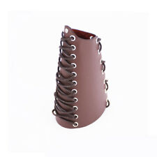 Traditional Archery Arm Guard Bracer Hunting Shooting Lace-up Leather Armguard