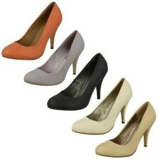 Ladies Spot On High Heel Court Shoe 'F9538'