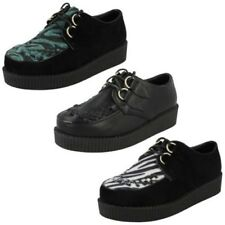 Ladies Spot On Casual Threaded Vamp Thick Sole Shoes 'F9588'