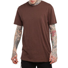 M-XXXL Mens Casual T-shirt 100% Cotton Round Neck Fitted Solid Basic Tee 6 Color