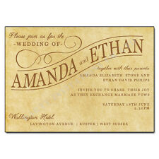 10 Personalised Vintage Wedding Day/Evening Invitations/Save The Date/Thank You