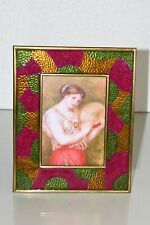 NEW JAY STRONGWATER ADRIAN ENAMEL PICTURE FRAME holds 5 x 7 photo