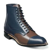Stacy Adams Mens Madison Ankle Boot Biscuit Cap Toe Leather Navy Multi 00015-492