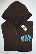 Womens GAP LOGO BROWN ZIP UP HOODIE SWEATSHIRT Sizes XS, S, M, L, & X L - NWT