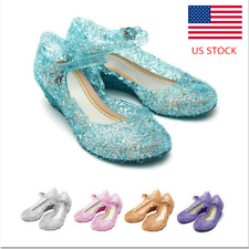 Toddler Kid Baby Girl Wedge Sandals Summer Glass Slipper Jelly Beach Shoes Size