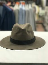 New Mens Bailey of Hollywood Davies Wide Brim Fur Fedora Hat Taupe Brown 61423BH