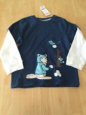 NWT Gymboree Boys Tee Shirt long Sleeve Fox And Owl SZ 4T Toddler