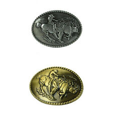 Western Vintage Classic Oval Horse&Rider Pattern Jewelry Cowboy Belt Buckles