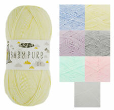 King Cole Baby Pure DK Yarn Soft Acrylic Mix Double Knit Wool Pack of 100g Balls
