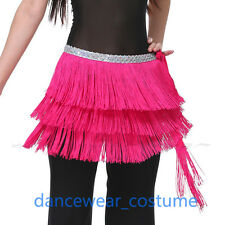 Adult Ladies Fringes Belly Dance Hip Scarf Wrap Ballroom Latin Tango Dance Skirt