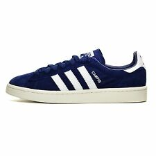 Adidas Campus Blue White Suede Mens Shoes New In Box